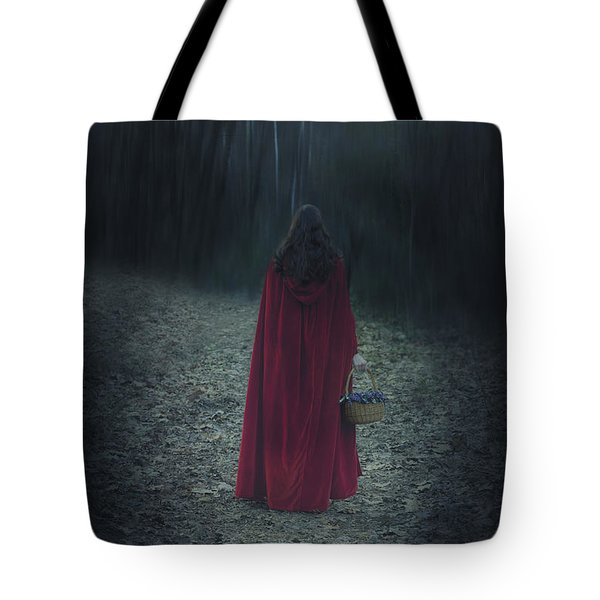 Woman With Basket Tote Bag by Joana Kruse