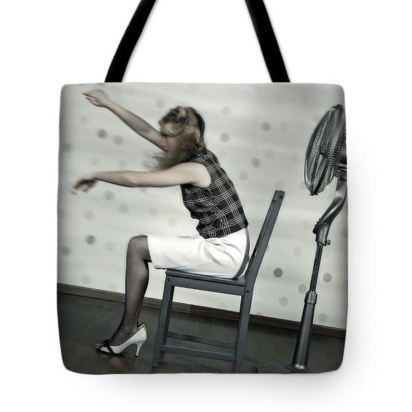 Woman With Fan Tote Bag by Joana Kruse