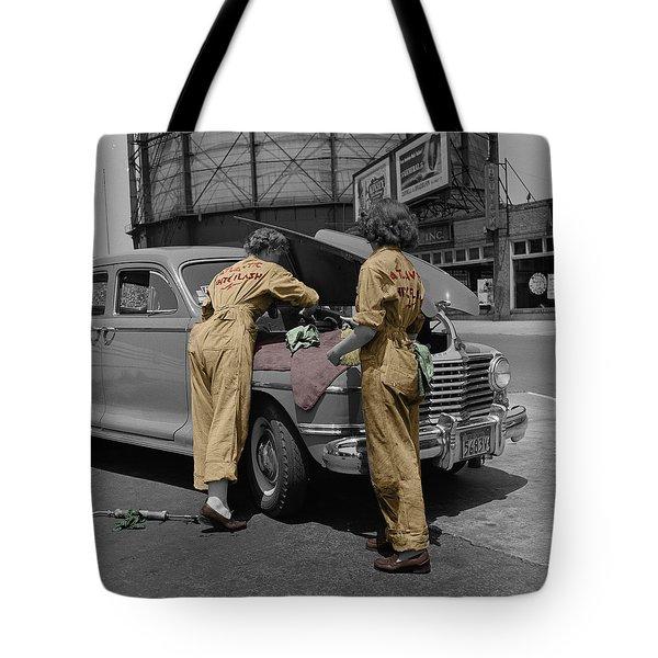 Women Auto Mechanics Tote Bag by Andrew Fare