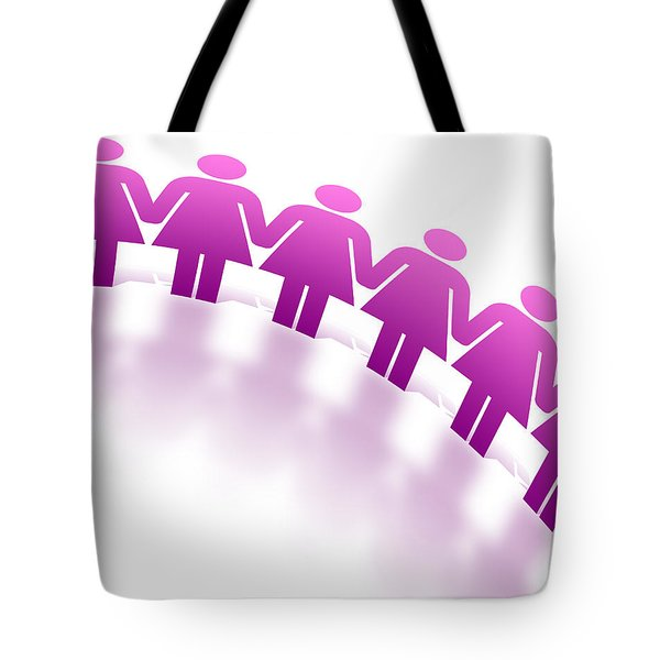 Women Holding Hands Tote Bag by Aged Pixel