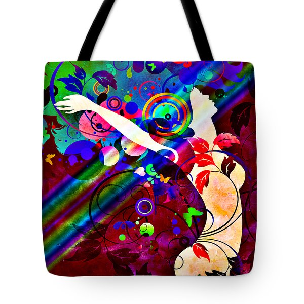 Wondrous At The End Of The Rainbow Tote Bag by Angelina Vick