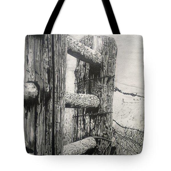 Wood And Wire Tote Bag by Jackie Mestrom