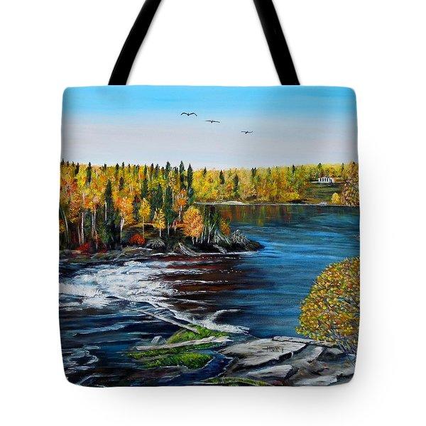 Wood Falls  Tote Bag by Marilyn  McNish
