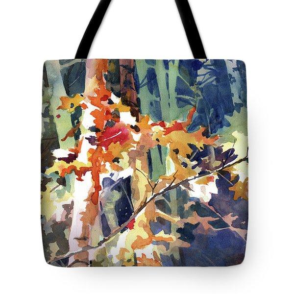 Wood Song Tote Bag by Kris Parins