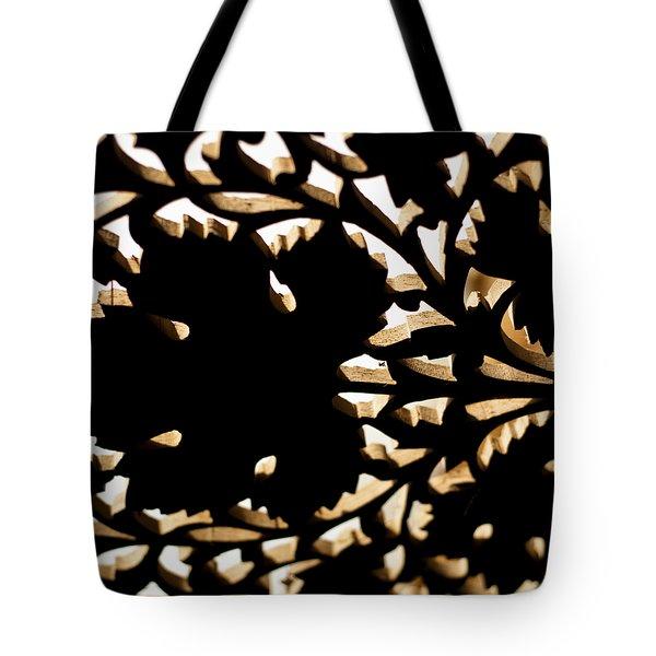 Wood Work Tote Bag by Christi Kraft