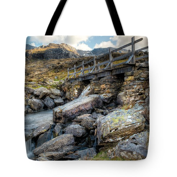 Wooden Bridge Tote Bag by Adrian Evans