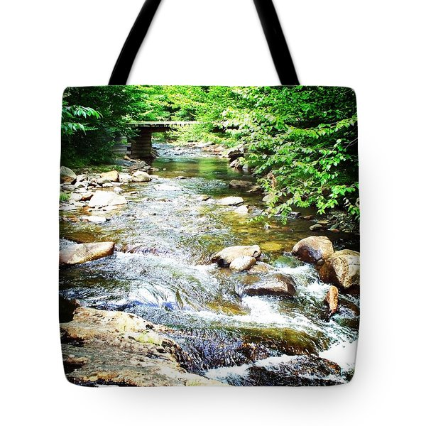Wooden Bridge Tote Bag by Joy Nichols
