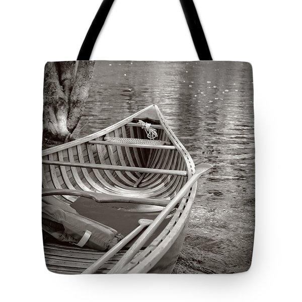 Wooden Canoe Tote Bag by Edward Fielding