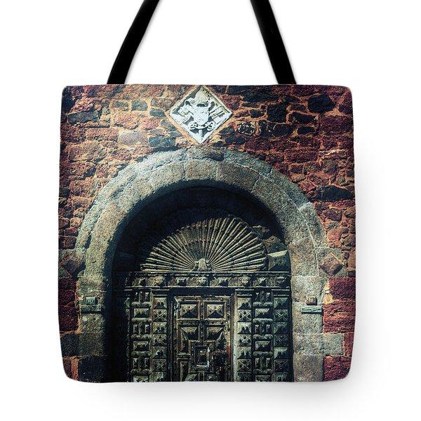 wooden gate Tote Bag by Joana Kruse