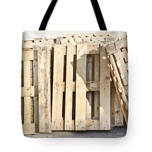 Wooden Pallets Tote Bag by Tom Gowanlock