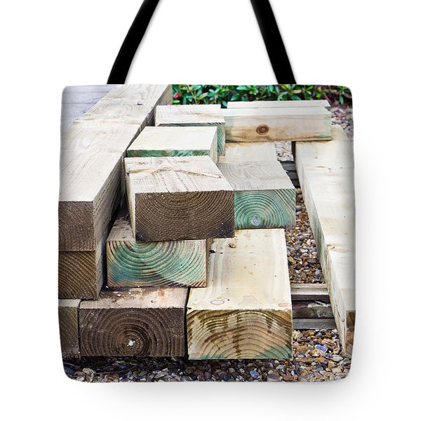 Wooden planks Tote Bag by Tom Gowanlock