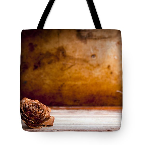 Wooden Rose Background Tote Bag by Tim Hester