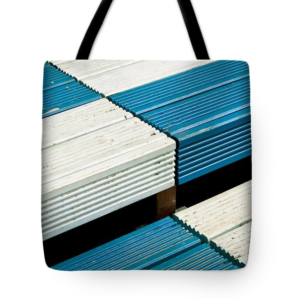 Wooden steps Tote Bag by Tom Gowanlock
