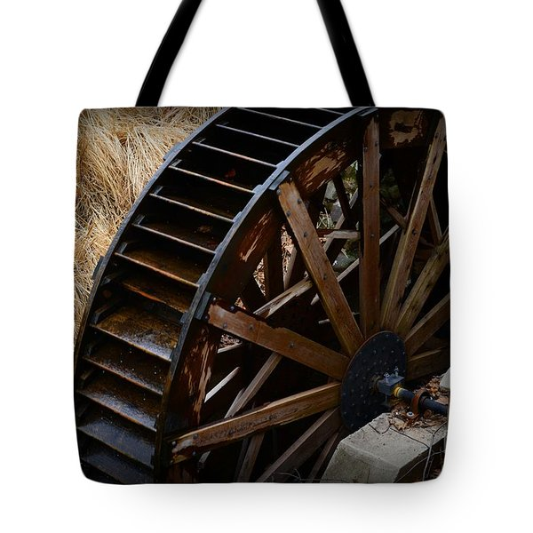Wooden Water Wheel Tote Bag by Paul Ward