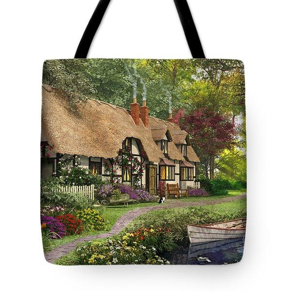 Woodland Walk Cottage Tote Bag by Dominic Davison