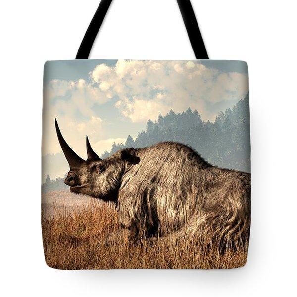 Woolly Rhino And A Marmot Tote Bag by Daniel Eskridge