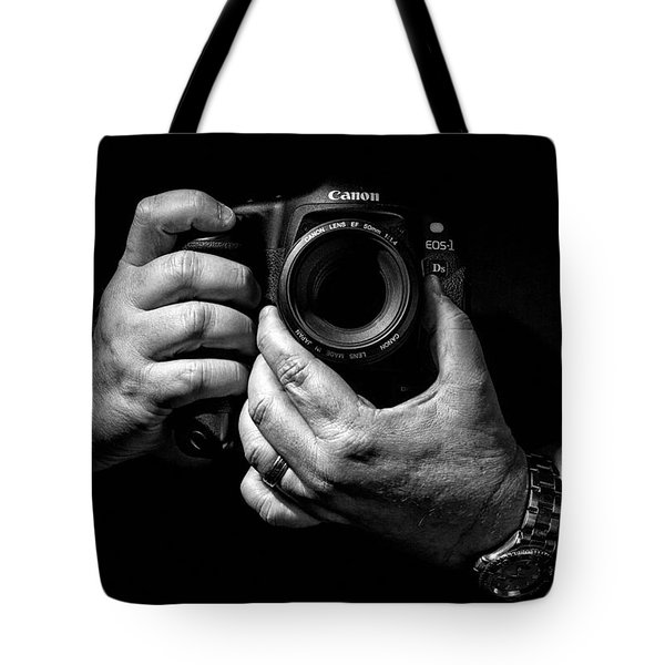 Working Hands Tote Bag by Jeff Burton