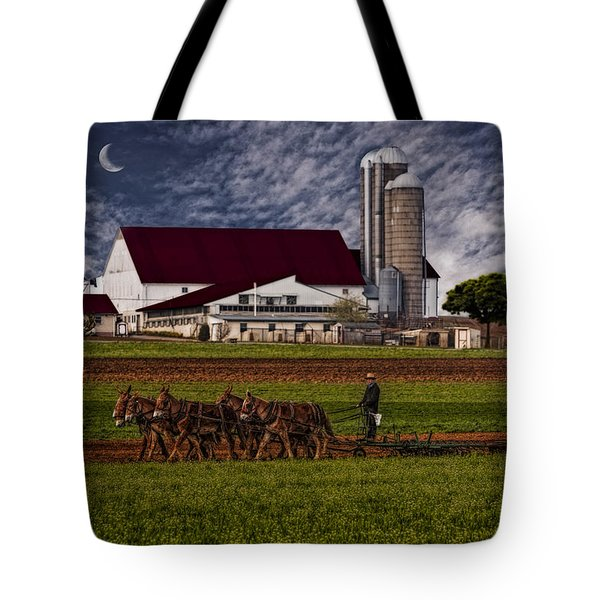 Working The Fields Tote Bag by Susan Candelario
