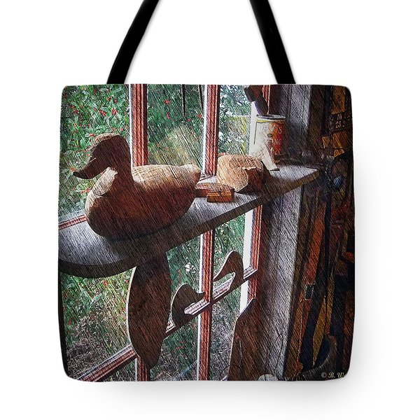 Workshop Window Tote Bag by Brian Wallace