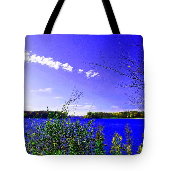 Worster Lake Autumn 2011 Tote Bag by Tina M Wenger