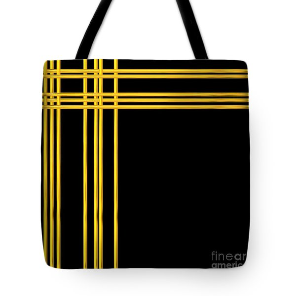 Woven 3d Look Golden Bars Abstract Tote Bag by Rose Santuci-Sofranko
