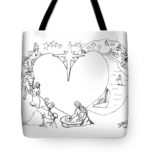 Wrapped In The Arms Of His Love Tote Bag by Dawna Morton