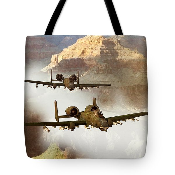 Wrath Of The Warthog Tote Bag by Dieter Carlton