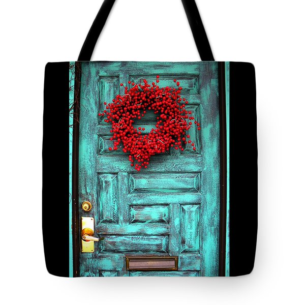 Wreath Of Berries Tote Bag by Chris Berry
