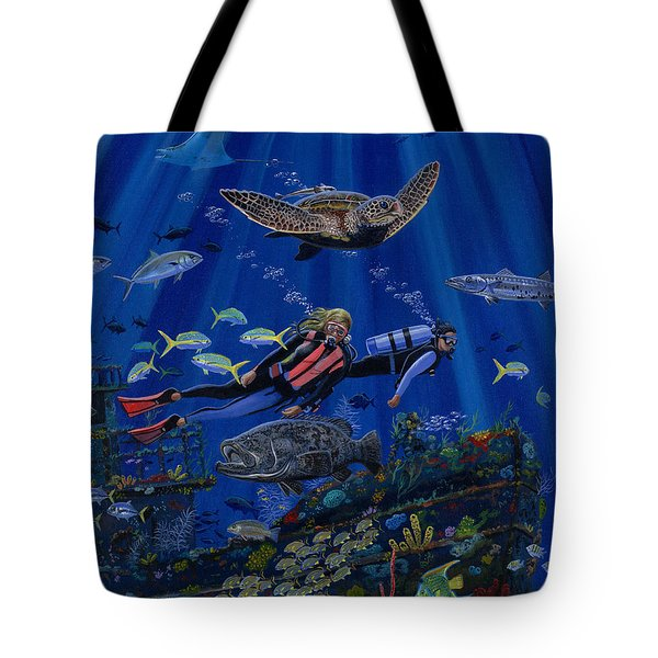 Wreck Divers Re0014 Tote Bag by Carey Chen