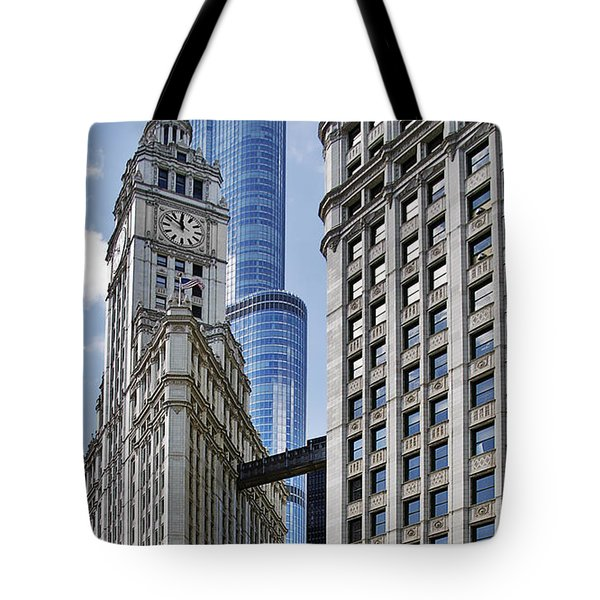 Wrigley And Trump In Harmony Tote Bag by Christine Till