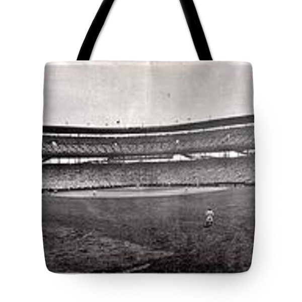 Wrigley Field 1929 Panorama Tote Bag by Benjamin Yeager