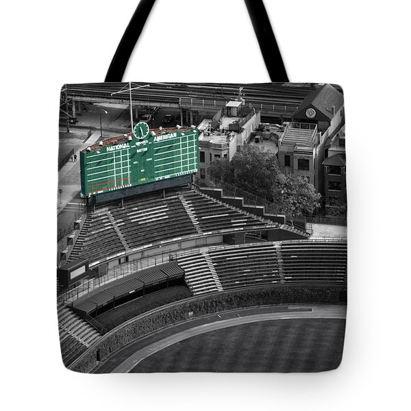 Wrigley Field Chicago Sports 04 Selective Coloring Tote Bag by Thomas Woolworth