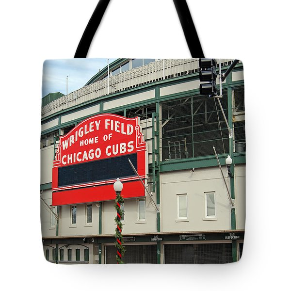 Wrigley Field Tote Bag by Skip Willits