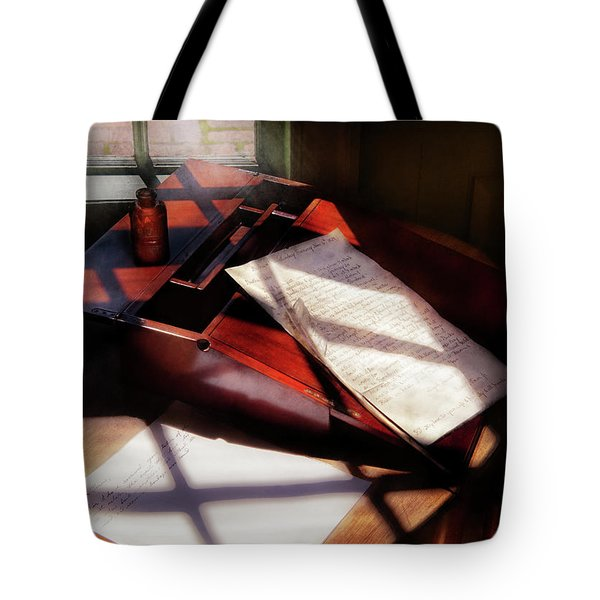 Writer - A Letter To My Brother Tote Bag by Mike Savad