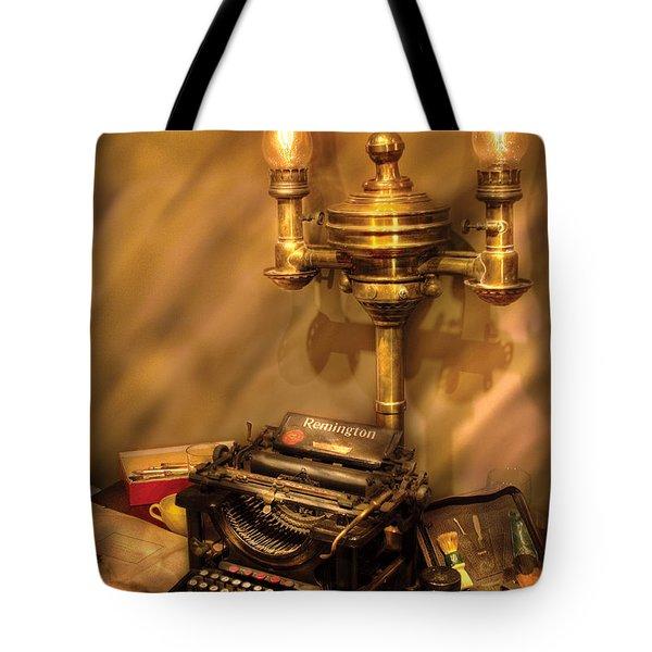 Writer - Remington Typewriter Tote Bag by Mike Savad