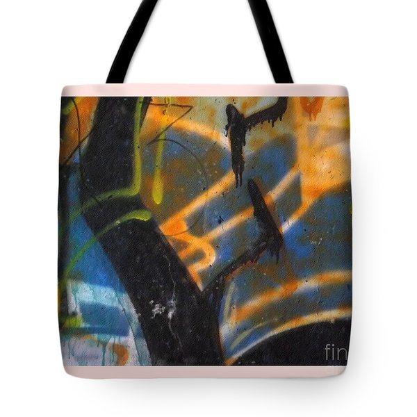 Writing On The Wall 2 Tote Bag by Sara  Raber