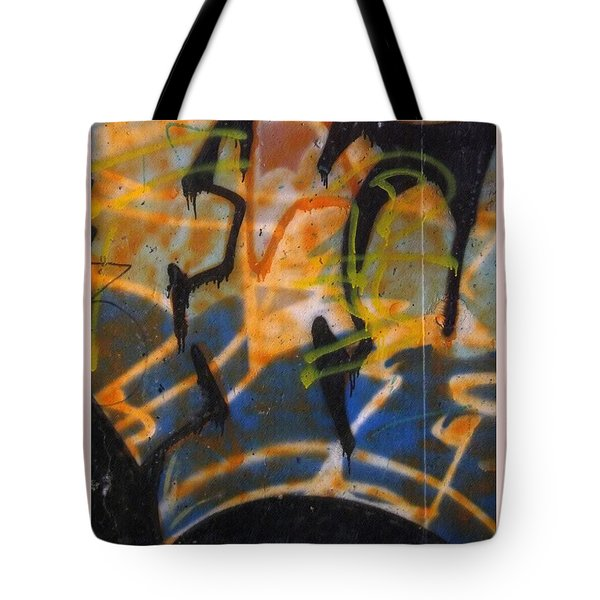Writing On The Wall 3 Tote Bag by Sara  Raber