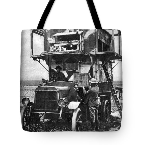 Wwi British Carrier Pigeon Loft Tote Bag by Photo Researchers