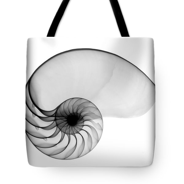 X-ray Of Nautilus Tote Bag by Bert Myers