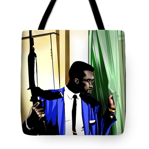 X - Somewhere Between Heaven Earth And Hell Tote Bag by Reggie Duffie