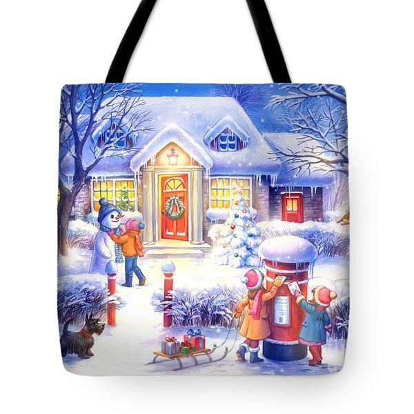 Xmas Tote Bag by Zorina Baldescu
