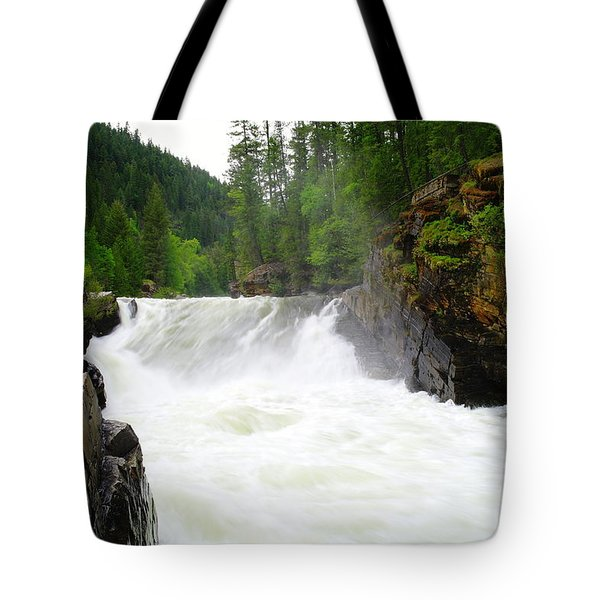 Yaak Falls Tote Bag by Jeff Swan