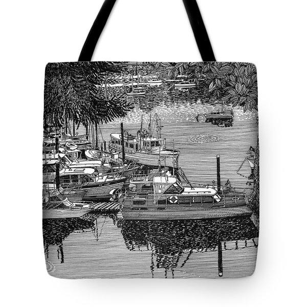 Port Orchard Yacht Club Cruise To Vashon Island Tote Bag by Jack Pumphrey