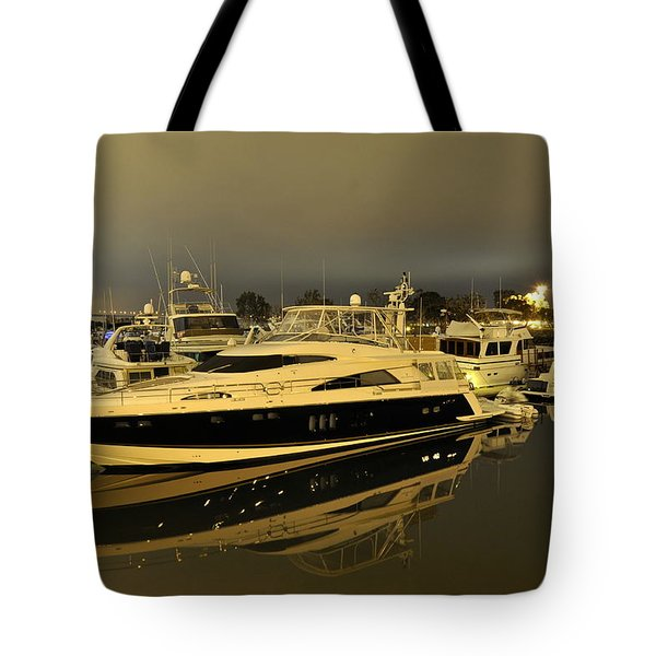 Yacht Tote Bag by Gandz Photography