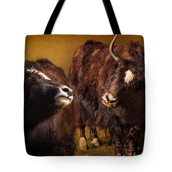 Yak Love Tote Bag by Priscilla Burgers