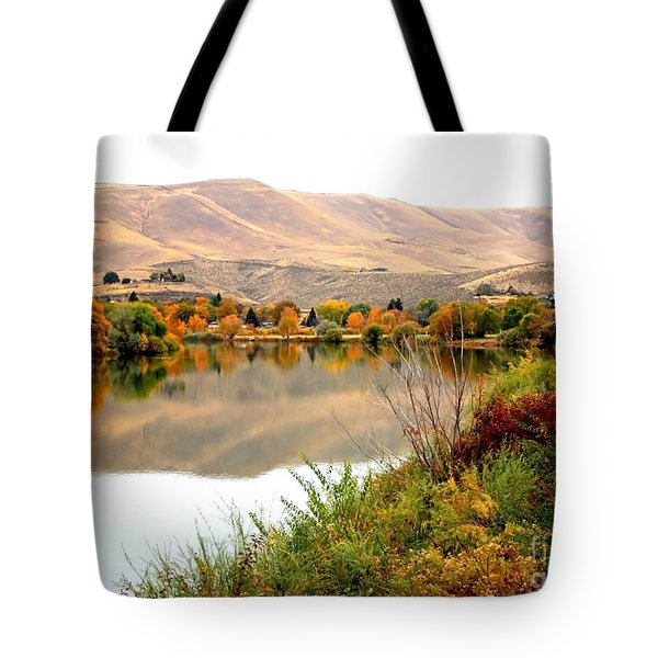 Yakima River Autumn Tote Bag by Carol Groenen