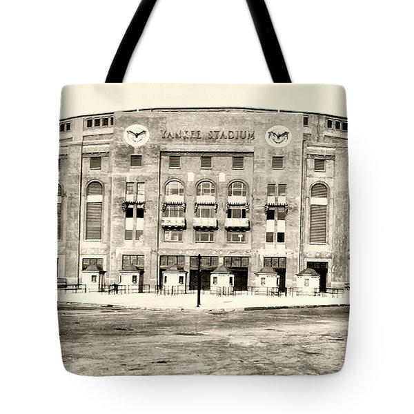 Yankee Stadium Tote Bag by Bill Cannon