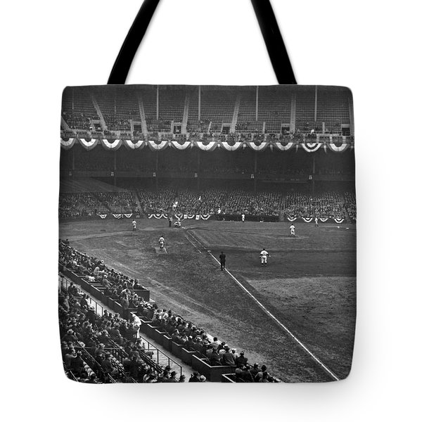 Yankee Stadium Game Tote Bag by Underwood Archives