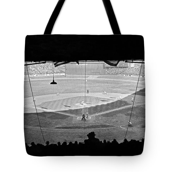 Yankee Stadium Grandstand View Tote Bag by Underwood Archives