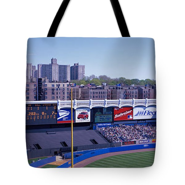 Yankee Stadium Ny Usa Tote Bag by Panoramic Images